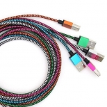 Nylon Lightning kabel 2 meter