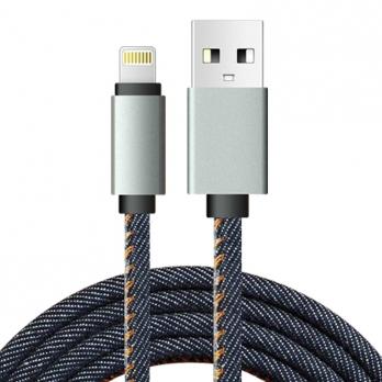 Jeans Lightning kabel 2 meter blauw