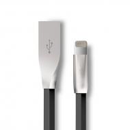 Platte 3D Lightning kabel 1 meter zwart
