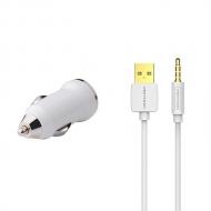 USB autolader en iPod Shuffle 3/4 kabel 1 meter