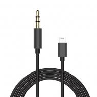 Lightning naar aux kabel 1 meter zwart
