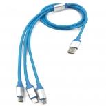 3 in 1 kabel - Lightning, micro USB en USB-C