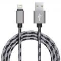 Xinnier nylon Lightning kabel 3 meter grijs