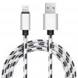 Xinnier nylon Lightning kabel 2 meter wit