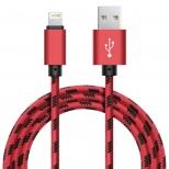 Xinnier nylon Lightning kabel 3 meter rood