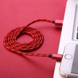 Xinnier nylon Lightning kabel 2 meter rood