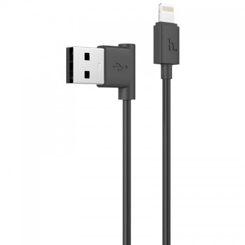 Hoco Lightning naar haakse USB kabel 1,2 meter zwart