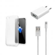 iPhone 7 transparant hoesje, screenprotector en oplader