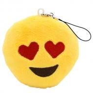 Emoji sleutelhanger met hartvormige ogen