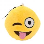 Emoji sleutelhanger knipoog met uitgestoken tong