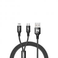 Nohon micro USB en Lightning kabel in één