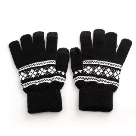 Touchscreen handschoenen met patroon