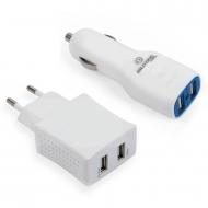 Bilitong duo USB thuislader en autolader 2.1A
