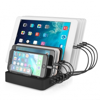 8 USB laadstation hub voor smartphones en tablets