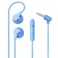 In-ear stereo hoofdtelefoon met microfoon M&J blauw