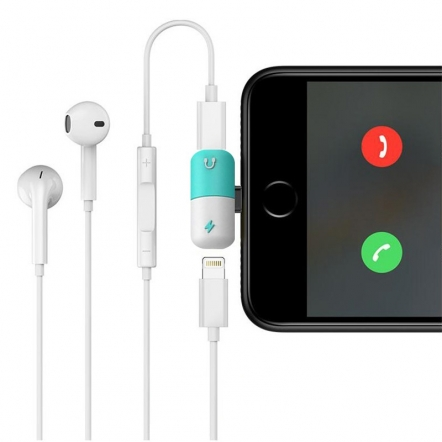 2 in 1 iPhone adapter: audio en opladen