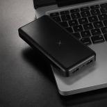 Baseus PowerBank 10.000 mAh - QI en duo USB wit