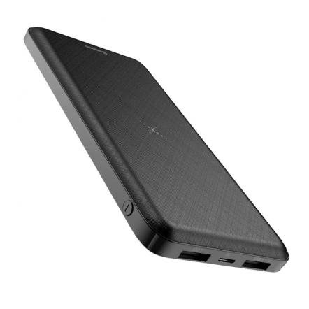 Baseus PowerBank 10.000 mAh - QI en duo USB zwart
