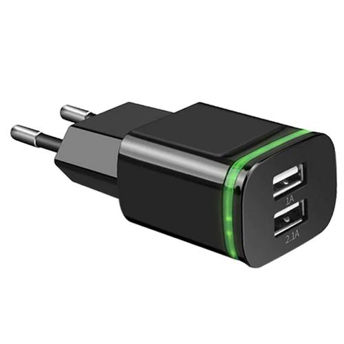 USB adapter met 2 poorten zwart