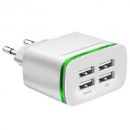 USB adapter met 4 poorten wit