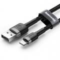 Baseus High-speed nylon Lightning kabel 25 centimeter zwart