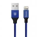 Baseus Yiven nylon Lightning kabel 3 meter blauw