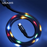 Usams Lightning kabel met geluidsgevoelig LED effect