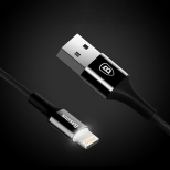 Baseus LED Lightning naar USB kabel 1 meter