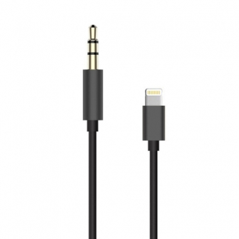 Lightning naar 3,5 mm jack aux audio kabel 20 centimeter