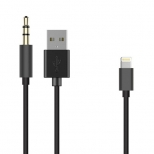 Lightning naar USB en 3,5 mm jack aux audio kabel 50 cm