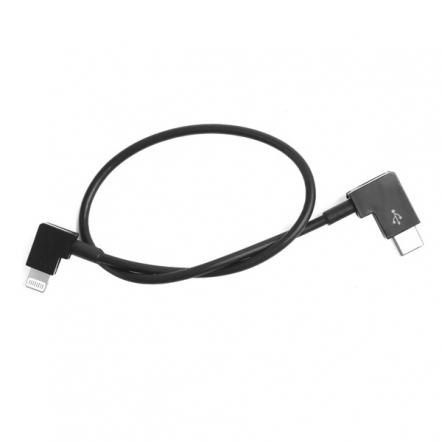 Lightning naar USB-C data kabel haaks 30 cm