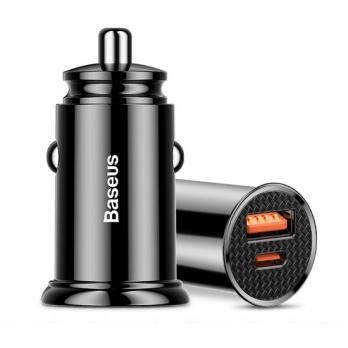Baseus autolader USB en USB-C snellader